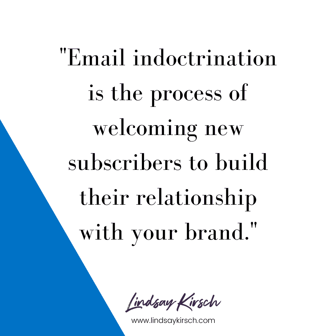 how to build an email indoctrination series