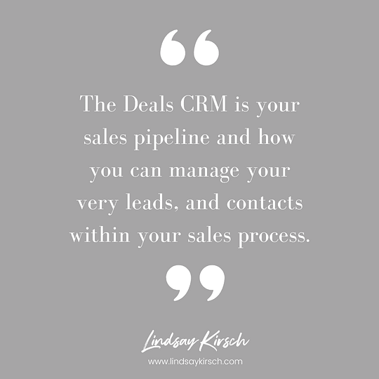 The ActiveCampaign Deals CRM provides you with a way to manage your leads.