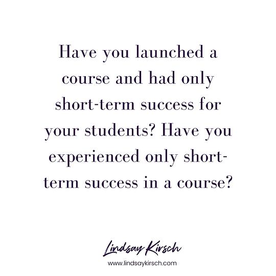 course success