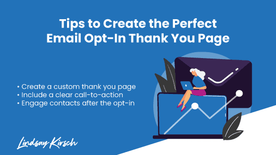 Email opt-in thank you page